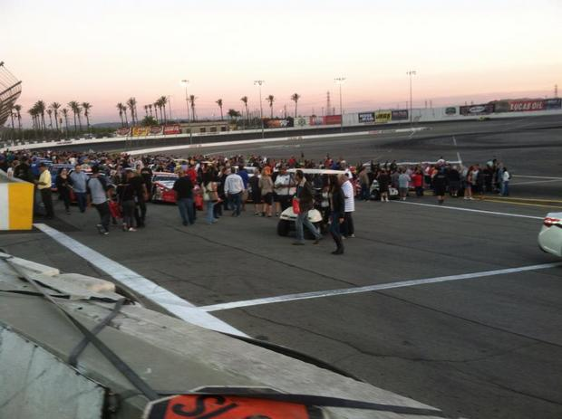 Irwindale fans on track