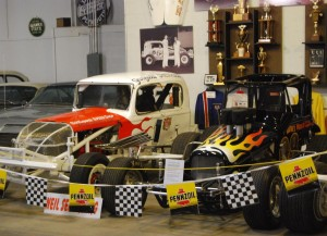 Legendary cars from several eras of Southeastern Wisconsin short-track racing history are exhibited on the upper level of the museum in Hatford.