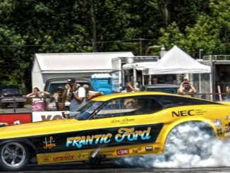 Frantic Ford Mustang Burnout