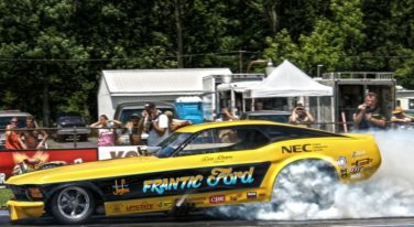 Frantic Ford Mustang Burnout