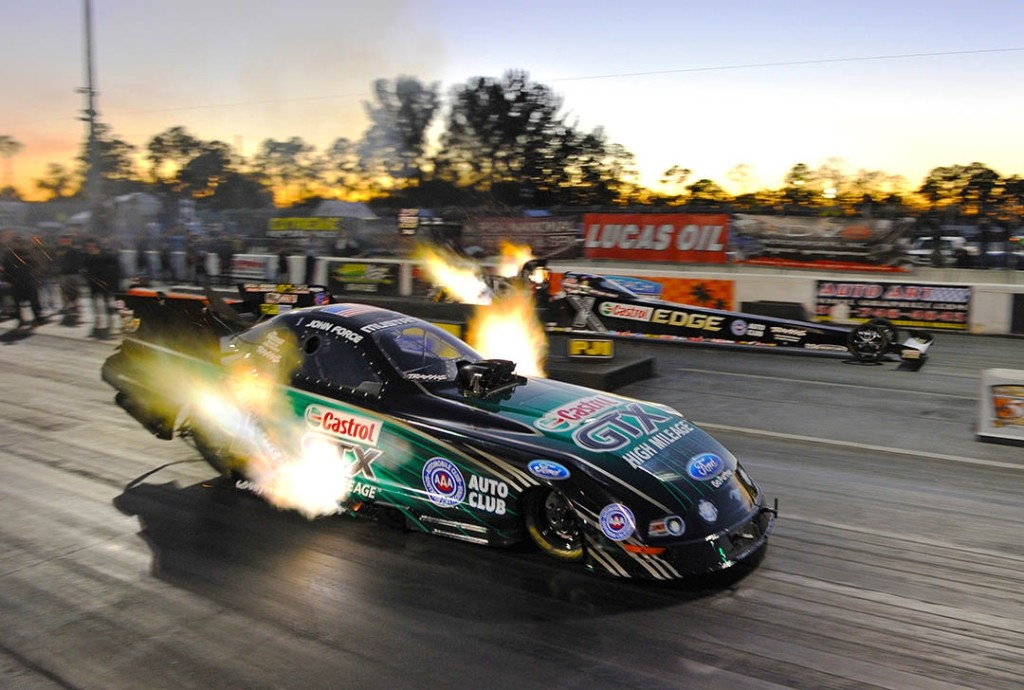 John Force vs. Brittany Force in Saturday testing.