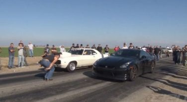[VIDEO] Old School Camaro Beats Modified Nissan GT-R in a Drag Race