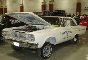 Original altered wheelbase drag cars like this '65 Coronet still show up.