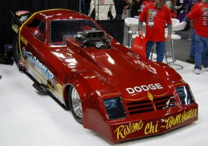 "This Chicago-based Dodge dragster is nicknamed the ""Chi Town Hustler."""