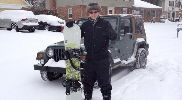 jeep snowboarding