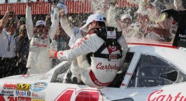 Larson Takes Checkered Flag at TreatMyClot 300