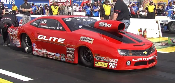 Erica Enders-Stevens and her Elite Motorsports Camaro