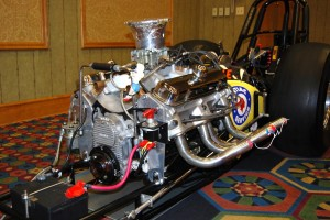 Pontiac 455 dragster engine.