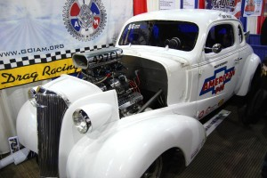 This '37 Chevy racer is used for the mechanic's union educational program.