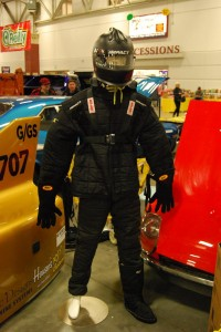 Simpson driving suit that Brown's team wears on the Salt Flats.