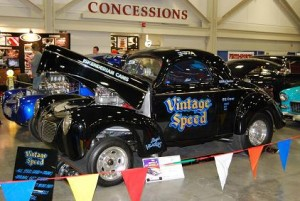 """Vintage Speed"" is an all-steel original '60s Willys gasser."