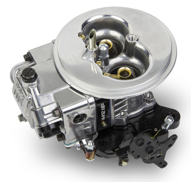 Holley's new Ultra HP 2-barrel carburetor is a redesigned version of the #4412, 500 cfm carburetor that's widely used in many circle-track divisions.