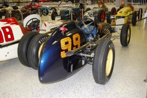 Lee Wallard drove the 1951 Kurtis-Offenhauser for Balanger Motors that is part of a display of 500 winning cars.