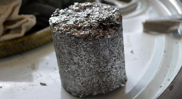 Recycled aluminum block