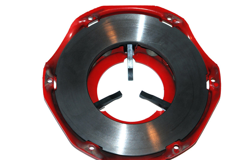 As a result, you can get away with a 2200-pound clamp load clutch – and that's what this one is.  McLeod offers similar pressure plates with clamp loads ranging from 2200 to 2400 to 2700 pounds, if you're so inclined. Additionally, they're available in varied bolt circles, and with or without counterweights.  Watch for more info on this setup in the next issue.
