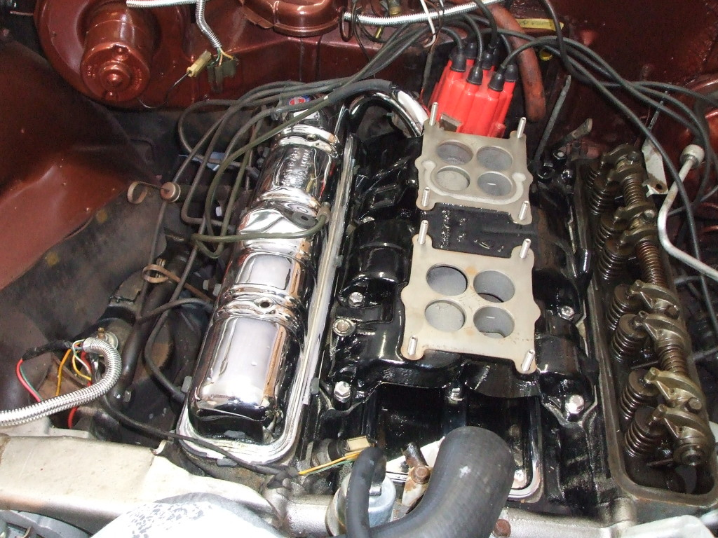 Installing chrome valve covers for a little more dress up.