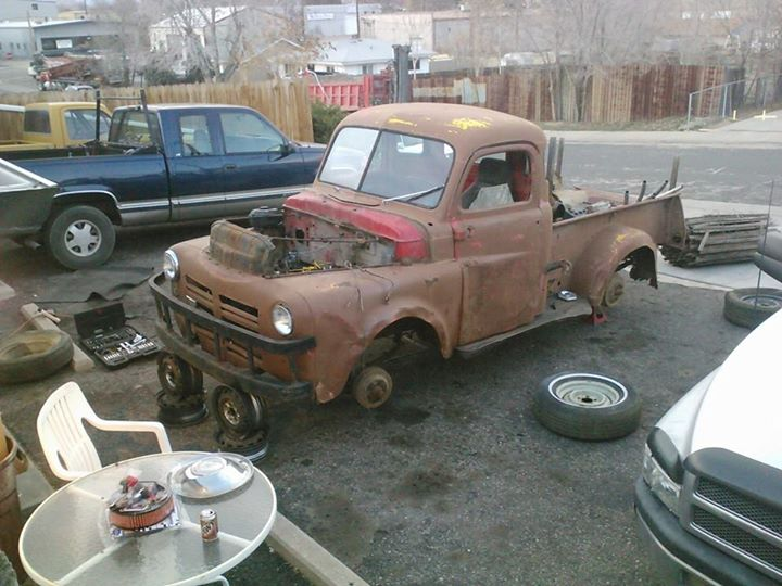 50 Dodge Pickup yard