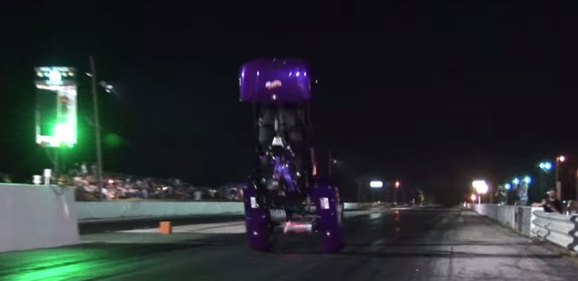 Electric dragster flip