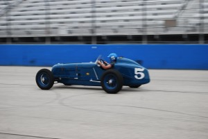 Dana Mecum's 1937 Thorne Sparks Big Six Blue No. 5.