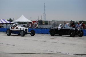 Lou Natenshon's Ford chasing Brian Brunkhorst's Alfa.