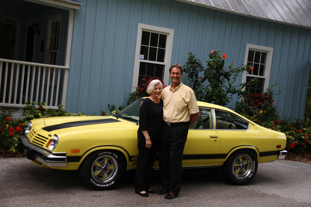 Ray and Anne Davis in front of the Vega.