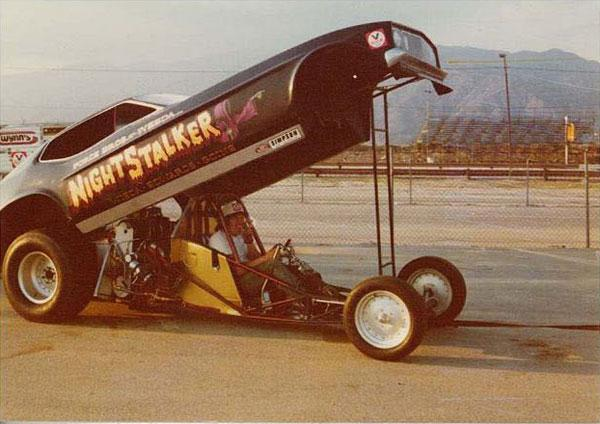 John Force with his first race car in 1973.