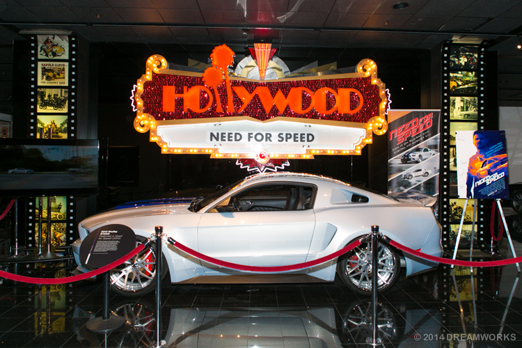The Need For Speed Mustang displayed at the Petersen Automotive Museum