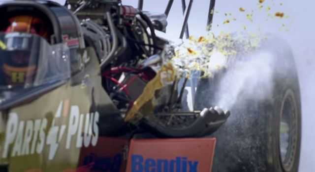Top Fuel Dragster damage