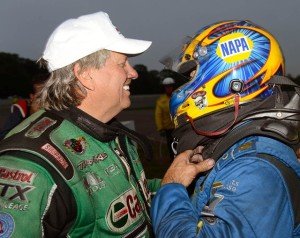 John Force and Ron Capps