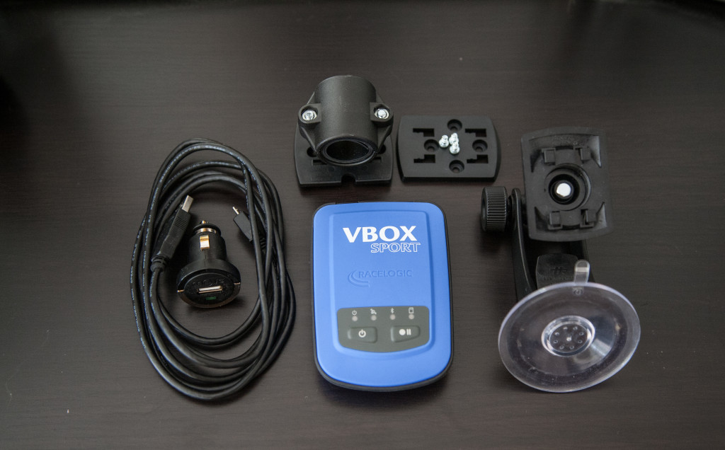 The VBOX Sport is an affordable GPS-based data-logging device can measure everything from acceleration, braking, zero-to-zero and G-forces. Standard measurements like 0-60, 0-100, 60-foot, quarter-mile and top speeds are measured, as are custom tests of your choice like different roll speeds, along with lap-times, predictive laps and dozens of other useful parameters.