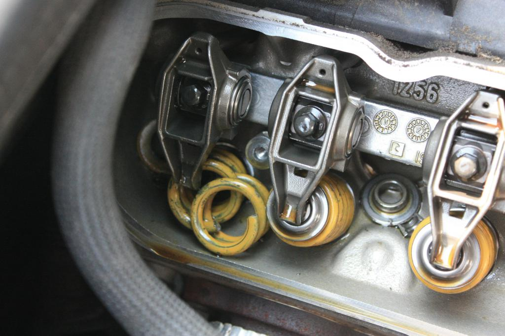 Photo: z06vetteforums This image shows one way that a valve spring can fail-by breaking into pieces.