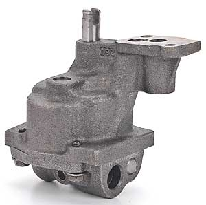 "A ""traditional"" high performance high volume/pressure oil pump of the type that mounts inside the block/oil pan."
