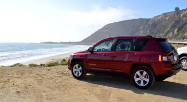 2014 Jeep Compass on Highway 1