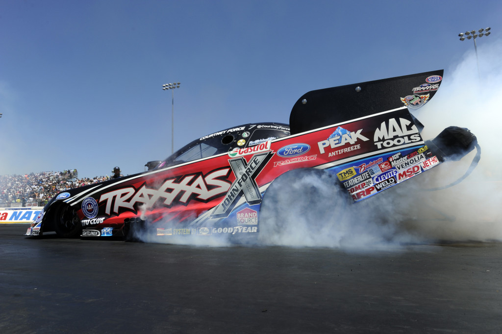 Courtney Force at Sonoma.  She's still a contender against Hagan, and Dad, John Force.