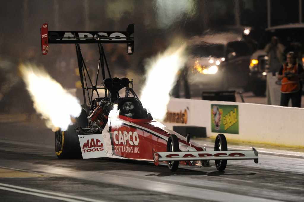 Steve Torrence in action.