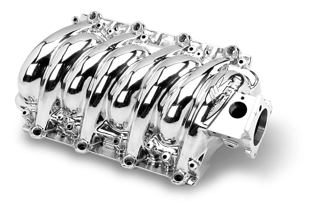 A Weiand Hi-performance multi-port FI intake manifold.