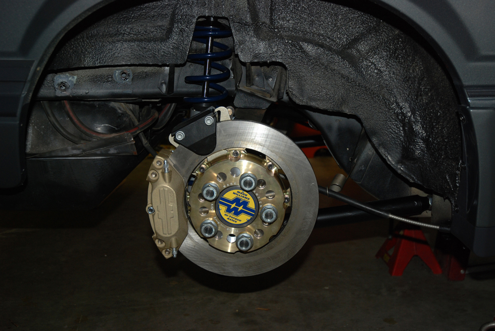 Clearing big disc brake setups is an issue, particularly when the wheel has a lot of offset. The Champion wheels we used easily cleared the Mark Williams disc brake setup in the rear.