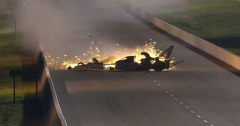 Antron Brown crash