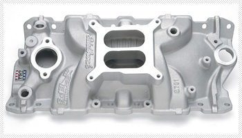 A Weiand performance intake for a carbureted engine