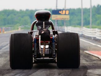 Dragster at starting line Feature