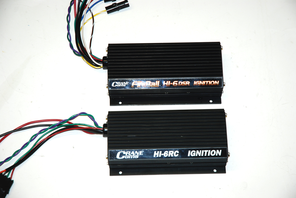 Crane offers a number of different ignition boxes.  The majority are digital like these two configurations. The only exception is the HI-6N.  This box (the only bright blue colored box Crane builds) is designed especially for NASCAR and other race sanctioning bodies that mandate analog ignition systems.
