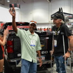 Celebrating the Winner of the AED Performance/RacingJunk Chevy Silverado