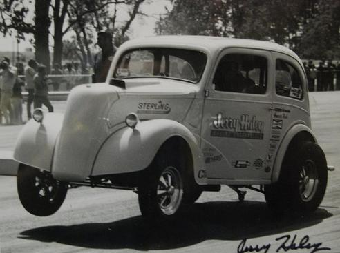 Jerry Haley's Anglia in early days at Union Grove.