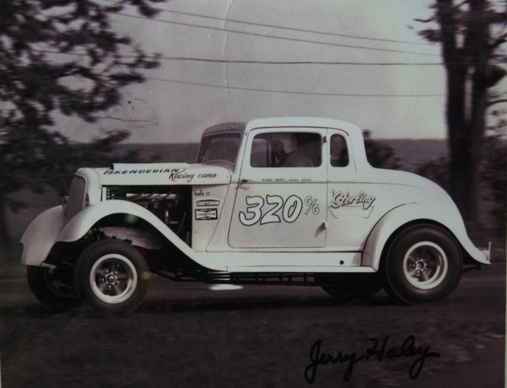 Jerry Haley in his coupe racing at Union Grove.