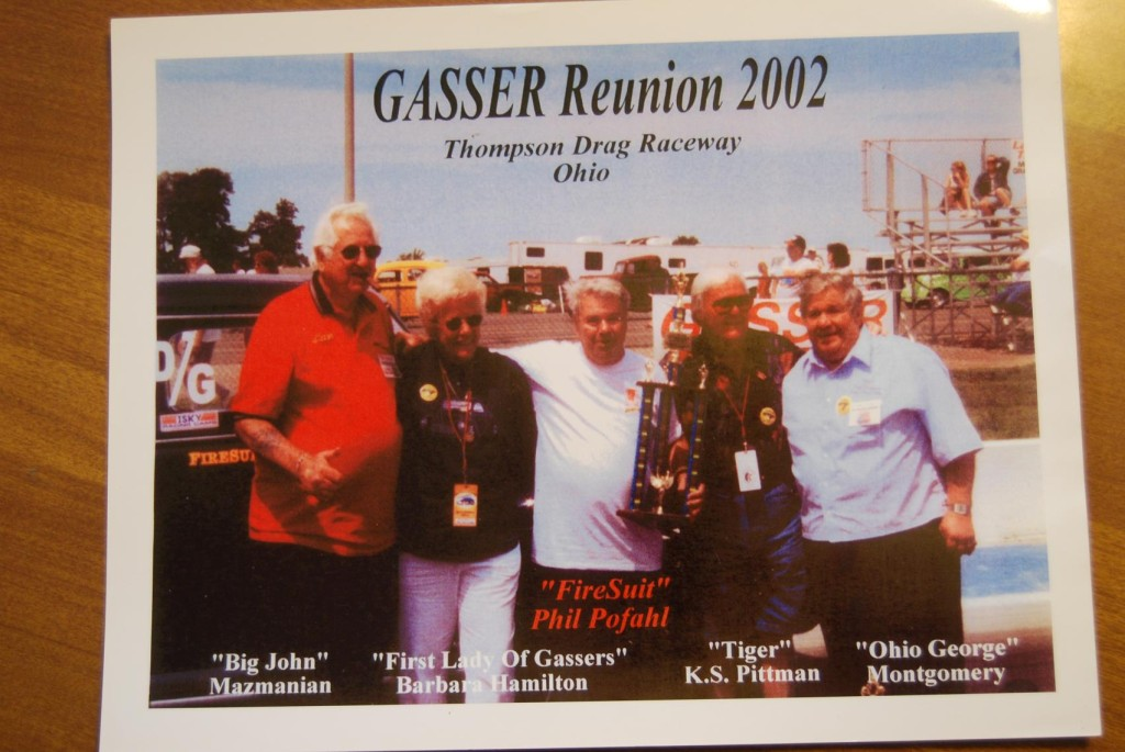 Phil and some of his famous drag racing buds.