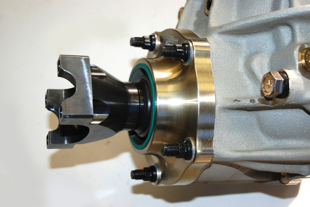 The support housings are CNC-machined from aircraft quality aluminum and use either oversized tapered roller bearings or low friction angular contact ball bearings (depending upon the application).