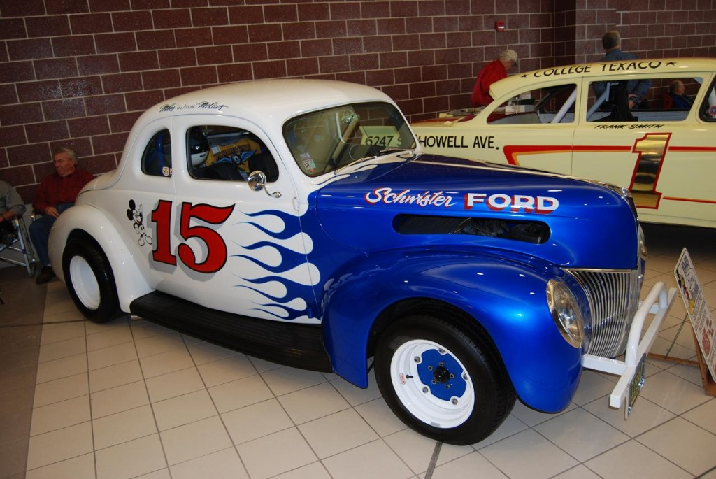"Replica of Mouse's 1940 Ford coupe at Milwaukee ""World of Wheels."""