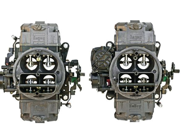 Holley carburetors come with either vacuum or mechanical secondaries. Both the Ultra Street Avenger and Ultra-series Double Pumpers even have four-corner idle circuits.