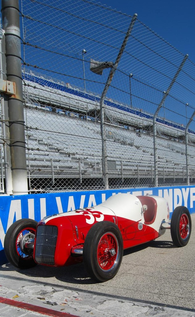 Almost seven decades after it caused a stir at Indy this beautiful Miller-Ford caused a stir at the Harry A. Miller meet in Milwaukee.
