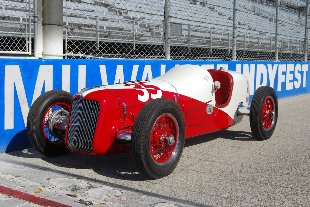 Race car collector Tom Malloy, of California, enjoys sharing hids cars—like the No. 35 Ford Miller—with other enthusiasts across the country.